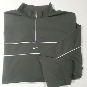 Nike Vtg 1/4 Zip Green Pullover XXL